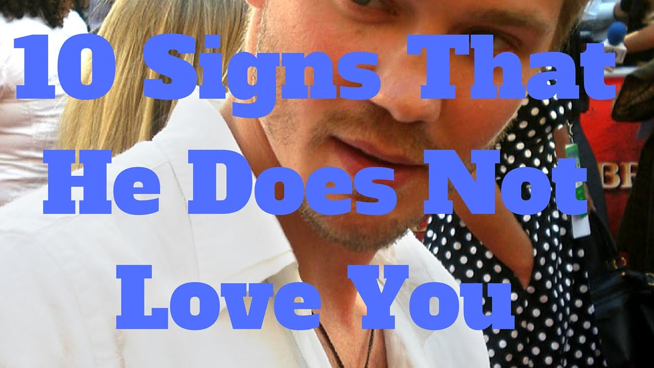 Signs That He Is Not In Love With You