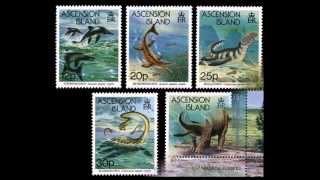 Динозавры. Dinosaurs.Доисторические животные на марках . Prehistoric animals on stamps