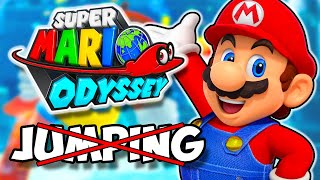 Mario Odyssey No 'A' or 'B' Button Challenge! - How Far Can We Get Without Jumping