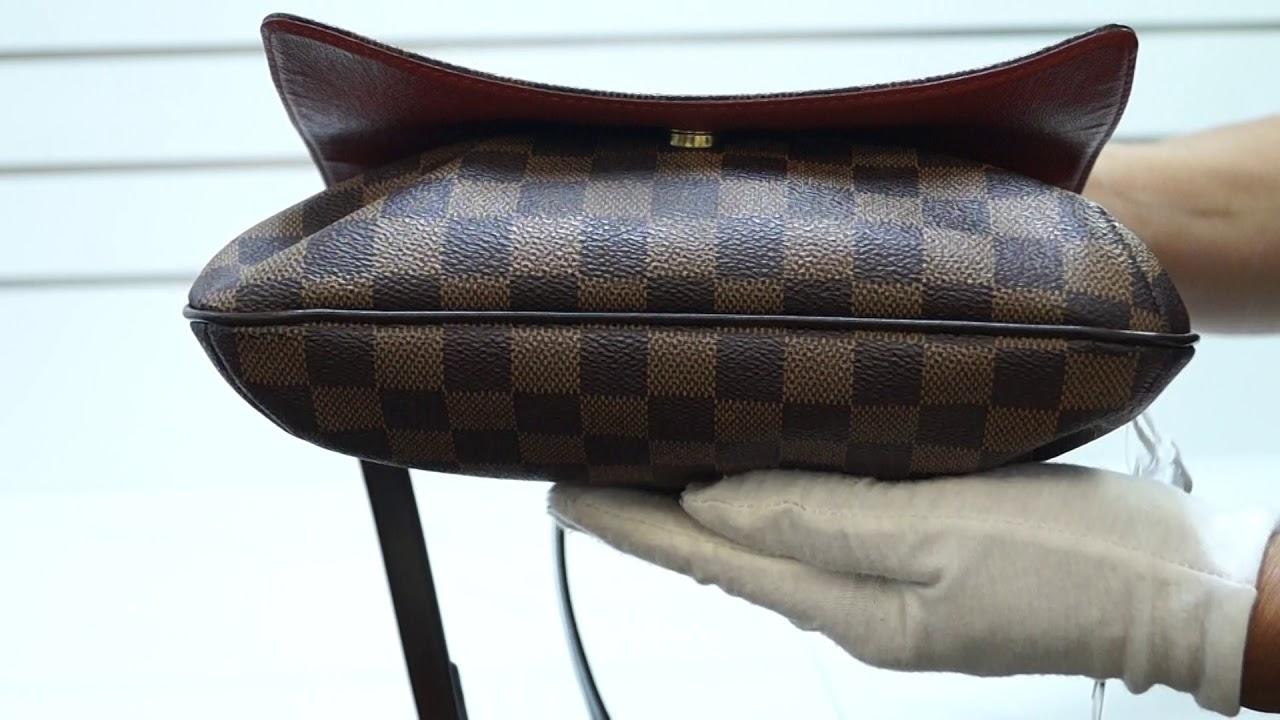 a0573e5c1f29 LOUIS VUITTON Musette Tango Damier Ebene Short Strap Shoulder Bag TT2872