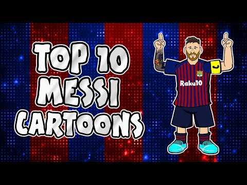 MESSI: Top 10 Cartoons (Parody songs, goal, highlights montage)