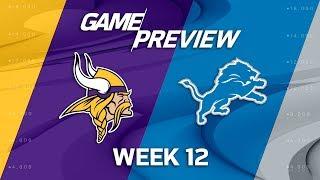 Minnesota Vikings vs. Detroit Lions | NFL Week 12 Game Preview | NFL Playbook
