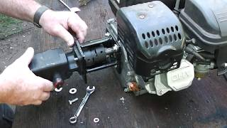 30 Ton Log Splitter Part 2 Homemade Hydraulic Pump to Engine Mount