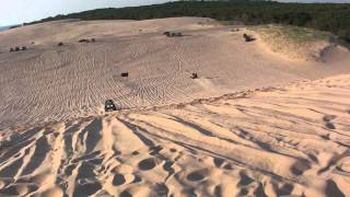 can am maverick and arctic cat wildcat jumping test hill silver lake sand dunes