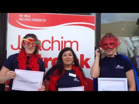 VOTE for Joachim Stroink for MLA Halifax Chebucto