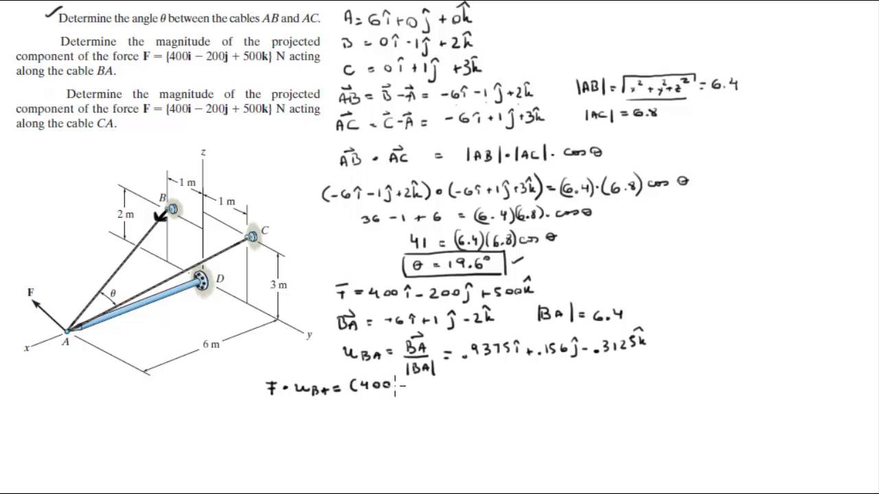 How to calculate an angle from three points? Stack overflow.