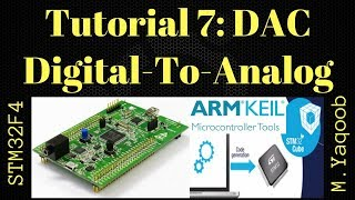 STM32F4 Discovery board - Keil 5 IDE with CubeMX: Tutorial 7 DAC - Updated Nov 2017