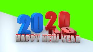 Happy New Year 2020 Green Screen s 3D Intros MTC TUTORIALS
