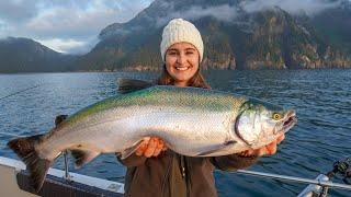 WILD Caught ALASKAN SALMON Catch Clean Cook Seward Alaska Fishing