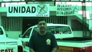 Bomberos Voluntarios de San Rafael Pie de la Cuesta apoyan a la Planilla UNIDAD