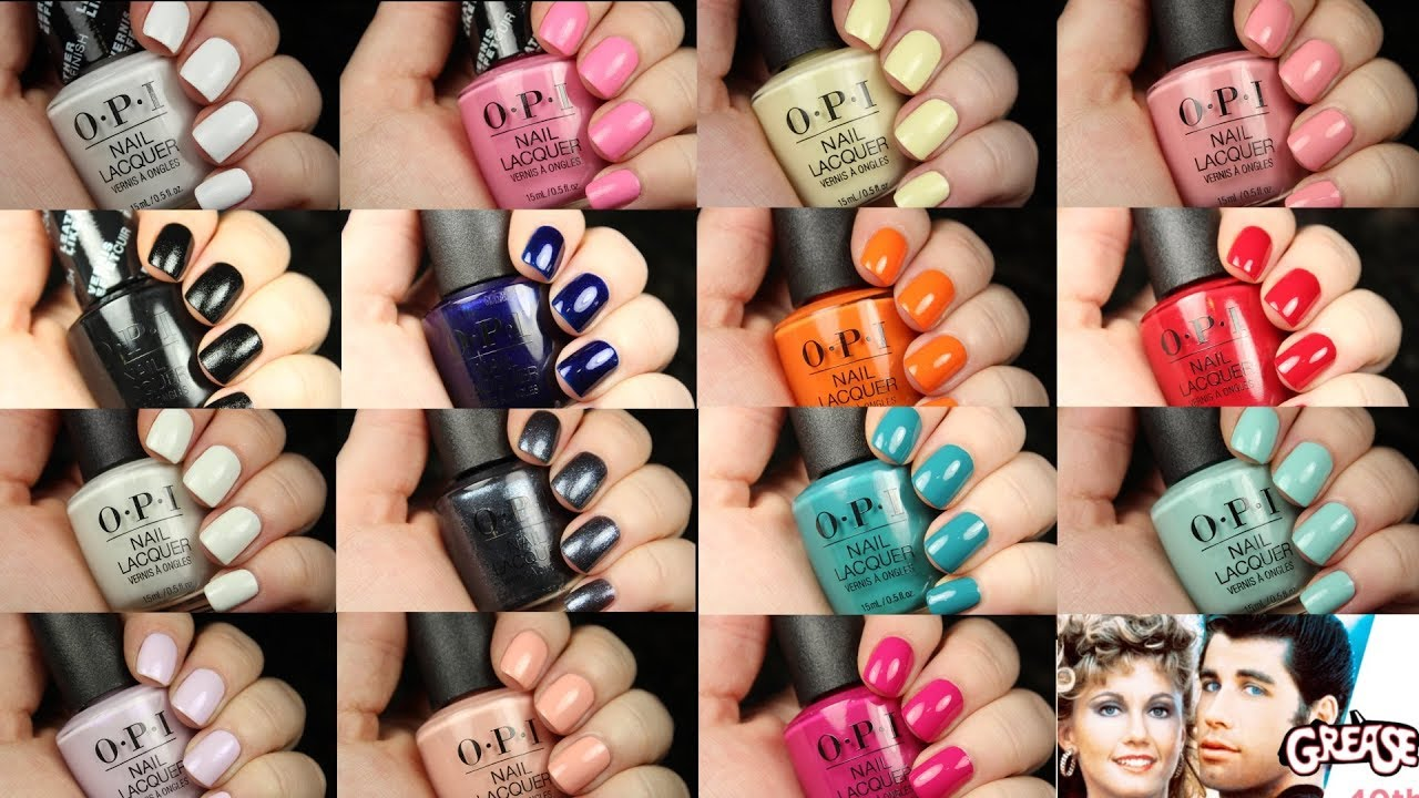 OPI Grease Collection | Live Application + Dupes