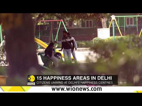 Citizens relax at Happiness areas in Delhi