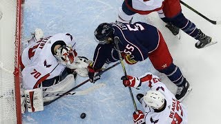 Braden Holtby locks it down to beat Blue Jackets in Game 4