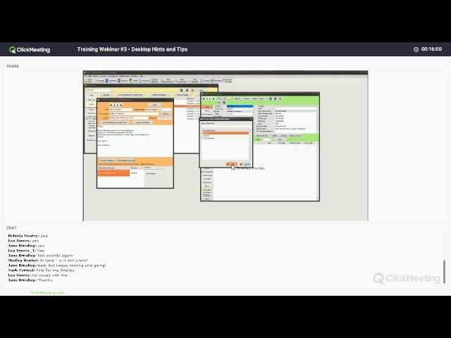 Webinar #4 - Desktop Hint & Tips