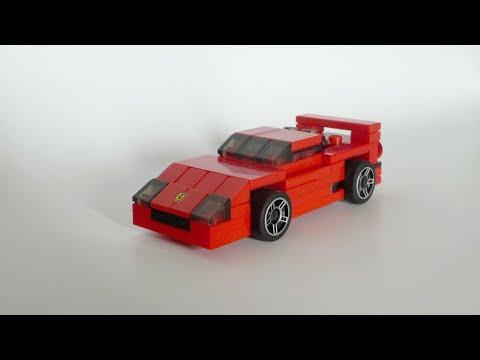 Lego Ferrari F40 Instructions Youtube