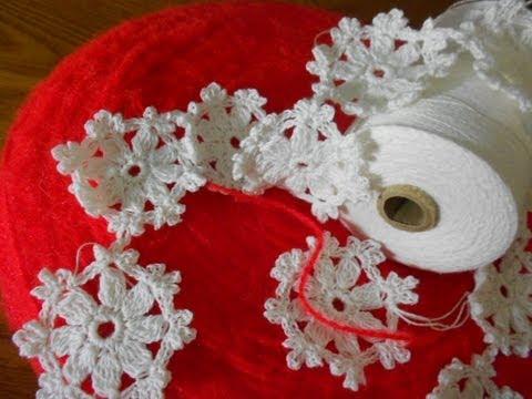 Guirnalda de flores en crochet youtube - Guirnaldas de tela ...