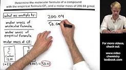 Calculating Molecular Formula from Empirical Formula