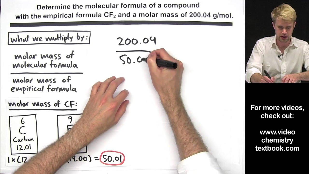 Calculating Molecular Formula from Empirical Formula - YouTube