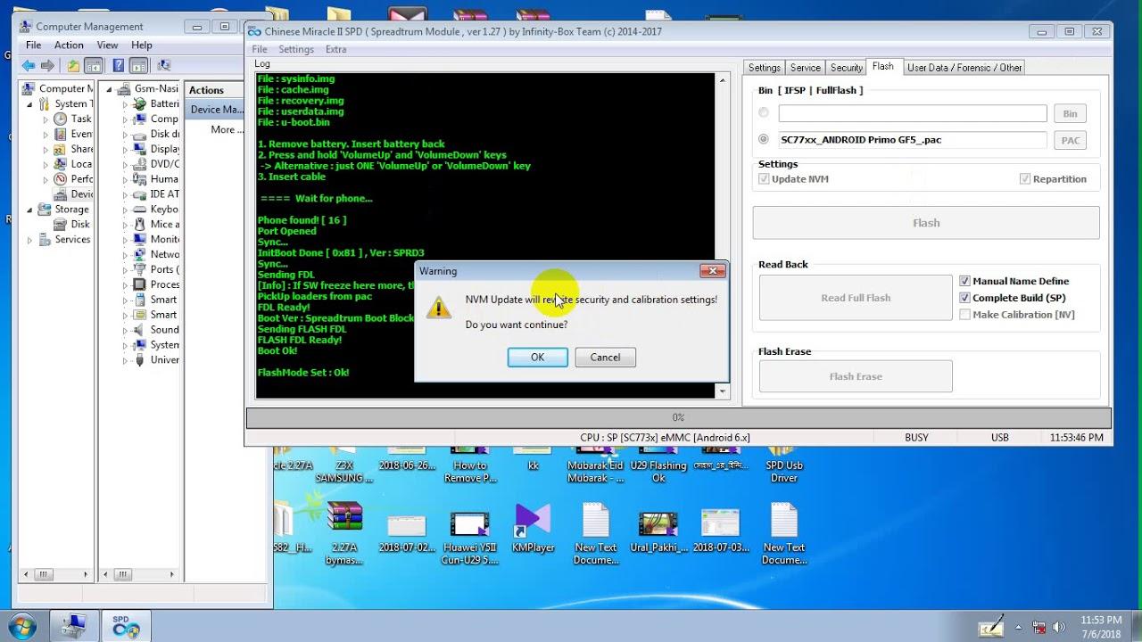 SPD 77xx Unknown baesbabnd Repair Cm2 And Tested Walton primo GF5 CPU 7731