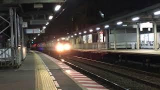 西鉄天神大牟田線特急列車(大牟田行き、5000形)・井尻駅を通過