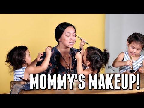 KIDS DO MOMMY'S MAKEUP! - September 28, 2017 -  ItsJudysLife Vlogs