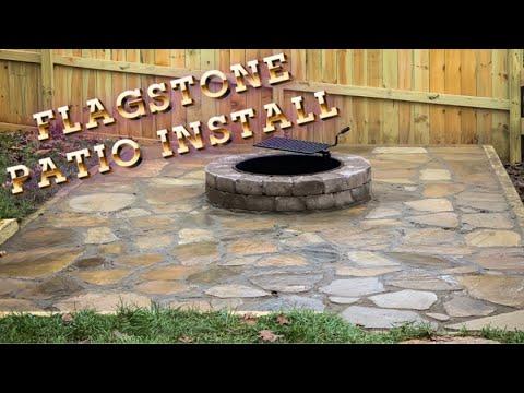 flagstone Patio Install