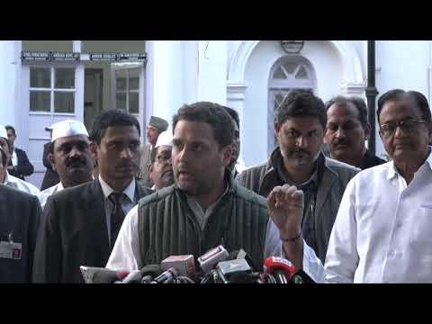 Congress President Rahul Gandhi on the Nirav Modi banking scam.