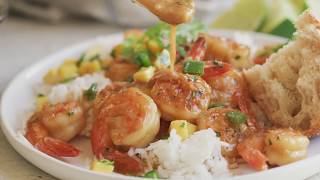 20 minute honey gaŗlic butter shrimp