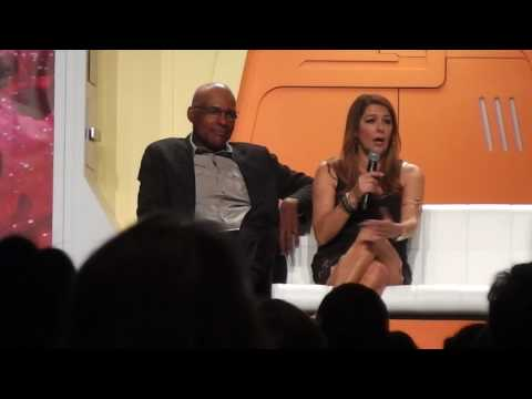 Marina Sirtis and Michael Dorn at the 2017 Star Trek Convention