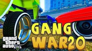 GTA 5 ONLINE - GANG WAR 20 LOWRIDER DLC | Bloods vs Crips