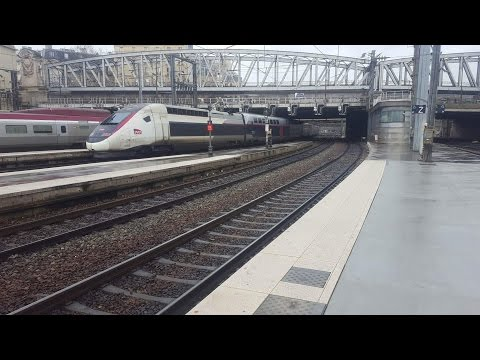 Trains at Paris Gare du Nord Paris to Lille line 12/1/17