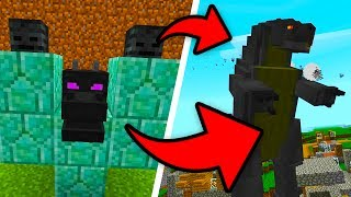 How To Spawn GODZILLA in Minecraft Pocket Edition (Godzilla Addon)