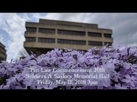 Pitt Law Commencement 2018