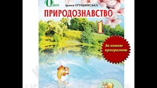 Підручник Природознавство 1 клас Нова програма Авт: І. Грущинська Вид-во: Освіта
