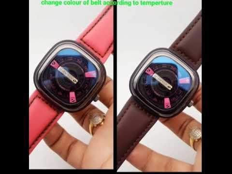 This watch changes its colour of belt according to temperature..must see☺