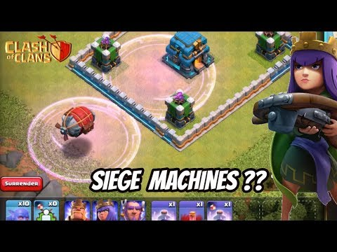 SIEGE MACHINES EXPLAINED!! HINDI - TH 12 UPDATE | Clash Of Clans