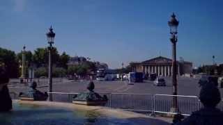 """Unterwegs in Paris. """"Place de la Concorde"""". 1964 Eröffnungsszene von FANTOMAS. August 2014"""