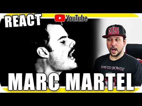MARC MARTEL - FREDDIE MERCURY - Marcio Guerra Canto Reagindo Music Live React