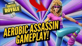 AEROBIC ASSASSIN Skin Gameplay! In Fortnite..