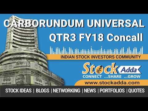 Carborundum Universal Ltd Investors Conference Call Q3FY18