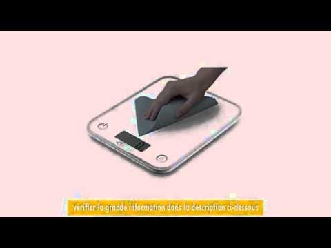 Tefal Bc5000v1 Balance De Cuisine Optiss Verre 5kg1 G Blanc Youtube