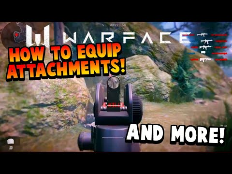 WARFACE PS4 HOW TO EQUIP ATTACHMENTS & M4 CQB REVIEW