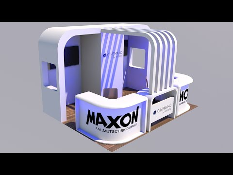 Cinema 4D Tutorial - How to Create an Exhibition Stand
