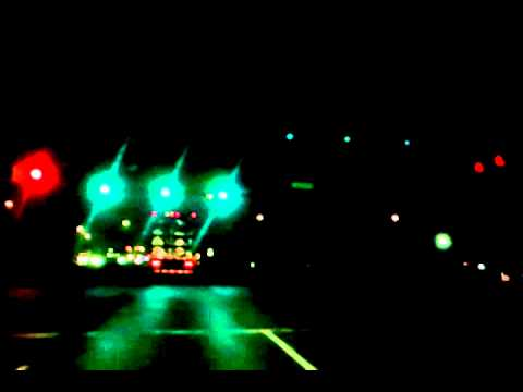 Pure Road Noise US 30 and Interstate 469 in Fort Wayne, Indiana at Night