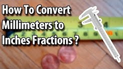 How to Convert Millimeters to an Inch Fractions - Easy Way. 2019