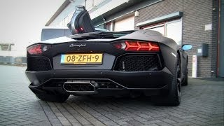 Aventador LP740-4 w/ Supersprint Exhaust LOUD Revving & Accelerating & Spitting Flames!!