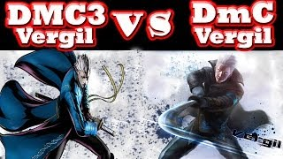 SamD DmC: Devil May Cry - DMC3 Vergil vs DmC Vergil - Moves and Animations Comparison