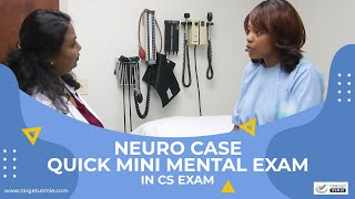 Target USMLE Step 2 CS : Mini Mental Status Exam (MMSE)