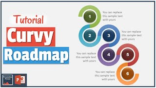 How to Create Curvy PowerPoint Road Map : Diagram Tutorial Series