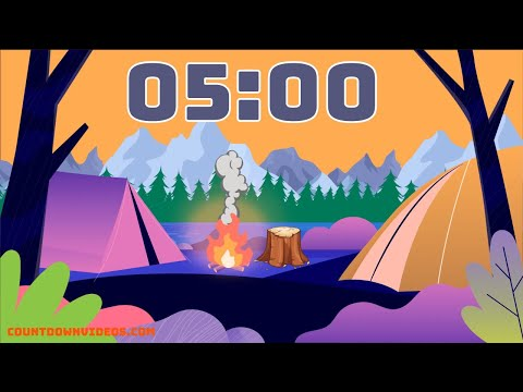 5 Minute Kids Fun Timer ⛺Summer Camping